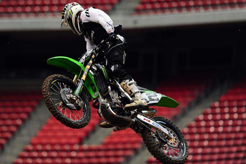 Ryan Villopoto was third-fastest with a 50.107.