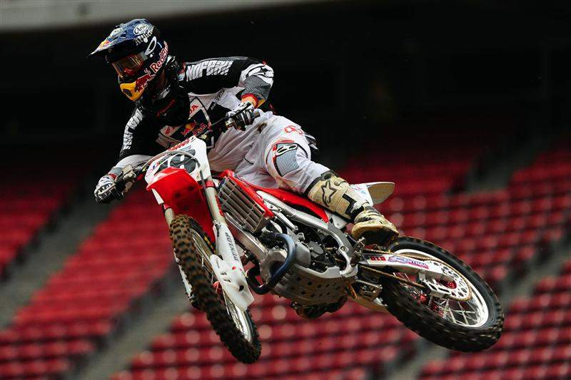 Davi Millsaps was tenth-fastest in the 450cc class with a 51.553.