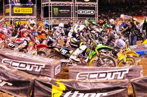Ryan Morias grabbed his first ever supercross holeshot.