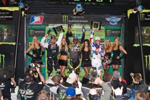 Phoenix AMA Supercross podium