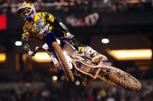 James Stewart was the first to get by Grant and led every lap of the main event.
