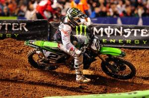 Ryan Villopoto was moving through the pack when he was taken out by Mike Alessi. He passed his way back through the pack a second time to finish seventh. Alessi was eleventh.