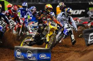Mike Alessi grabbed the holeshot in Houston, to no one's surprise