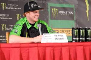 Ryan Villopoto was all smiles all day at Anaheim on Friday.