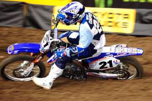 Cody Cooper in his JGR SX debut.