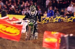 After winning his Heat race convincingly, Villopoto overcame and early fall in the main event to finish a solid fifth.