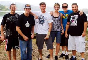 Travis Pastrana and all his crazy friends, but not his crazy dad.