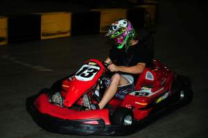 Sean Borkenhagen at the Racer X Kart Night