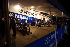 The JGRMX/Toyota/Yamaha/No Fear bikes