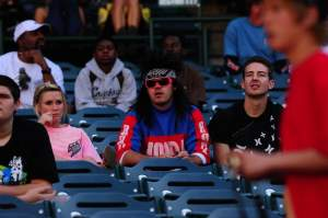 This guy never got the notice that retro night was cancelled. Don't stop believin' pal.