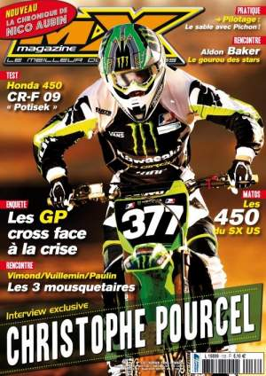 Pourcel made the cover page of the February issue of MX Magazine before he won Houston.