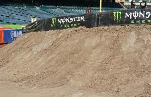 See? Look at the backside of this berm. All nice and pretty for the fans. I think somebody's been reading...