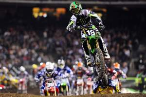 Jake Weimer had his starts nailed all night. He got the holeshot in his heat and the main event.