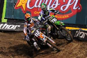 Ryan Morais (116) eventually worked his way around Brayton (114) for second. It was the second PC 1-2 of the year at Anaheim.