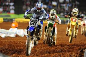 Broc Hepler (60) ran second early before giving way to Ryan Villopoto (2) and Chad Reed (1), along with Andrew Short.