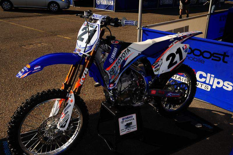 Cody Cooper's lonely bike.