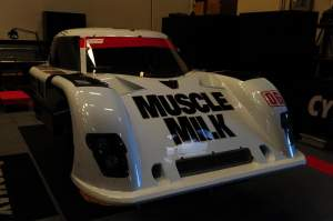 The Muscle Milk prototype racecar.
