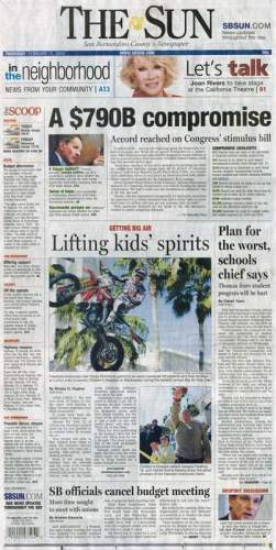 The Loma Linda Big Air Fair made front page news in The San Bernardino Sun