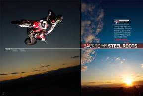 Because all work and no play makes Jeremy McGrath a dull boy, the King of Supercross  headed out to Ocotillo Wells with some buddies to have some freeride fun. Simon Cudby went along to provide evidence. Page 168.