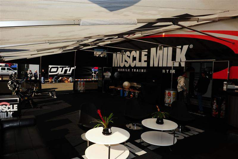The rest of the Muscle Milk mobile training center.