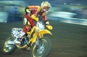 Pastrana raced his first supercross that night and finished 4th