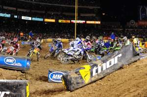 Chad Reed does not grab the holeshot...