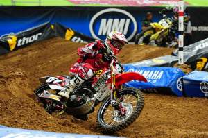 Blake Wharton grabbed the holeshot in the Lites main event.