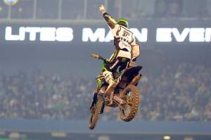 Pourcel's win clinched his first SX title with one round left to run.