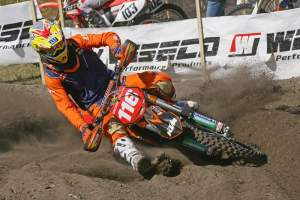 Shock Doctor KTM's Nathan Kanney looked fast in practice yesterday.