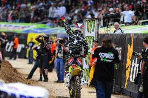 Chad Reed celebrates moving one step closer to another championship