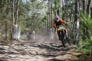 Shock Doctor KTM's Kailub Russell put a hurting on the XC2 Lites field.