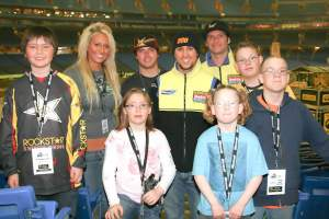 Team Rockstar/Makita Suzuki and the top MX for Children fundraisers got together at the Rogers Centre