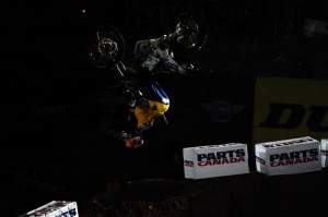 Pastrana came out during opening ceremonies and did a backflip off a berm.