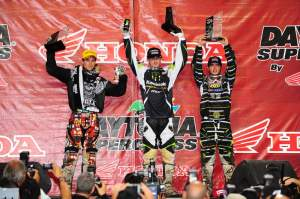 Pourcel, Davalos, and Nico Izzi celebrate