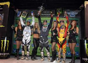 Mike earned his first Supercross class podium on Saturday