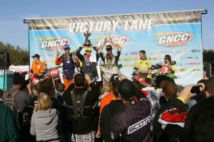 Kanney, Mullins and Whibley (L-R) on the Florida GNCC podium.
