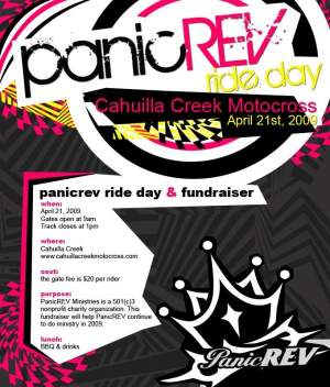 Panic Rev Christian Ministries is having a ride day on April 21