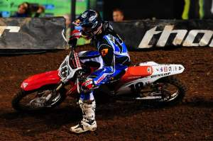 Davi Millsaps ran third the entire race for his second podium in a row.