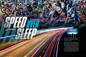 Every March, Daytona's Bike Week becomes the focal point of American motorcycle racing. Jason Weigandt spends a week bouncing between Florida and Georgia, trying to take it all in. Page 160.
