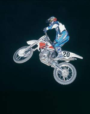 Doug Henry aboard the YZ400M