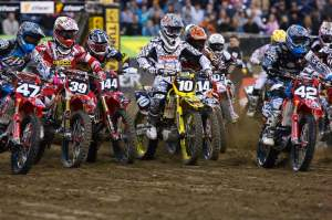 Ryan Dungey fought off a sea of red last week