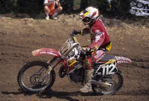 Stephane first rode for Honda of Troy before the team went blue