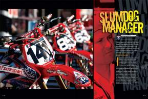 "David ""Electronic Ping"" Pingree made a career out of driving his team managers crazy, so now he's pulled on the headset himself. The new Troy Lee Designs/Red Bull Honda boss tells us how that's working out. Page 218"