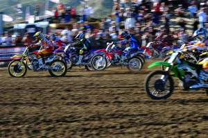 ...and the second 450cc holeshot. He went 3-2 for second overall.