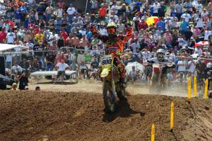 Mike Alessi won the first moto.