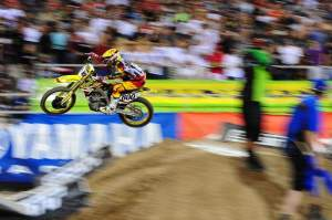 Mike Alessi rocketed out of Monster Alley with the lead