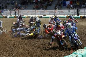 This MX2 moto started with a pileup