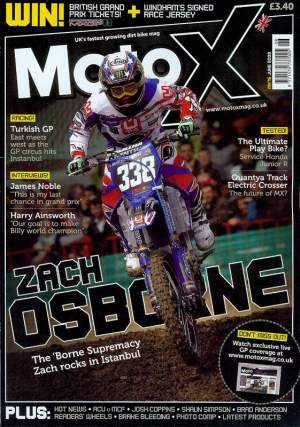 That's Zach, on the cover of Moto-X before his bad weekend in Portugal
