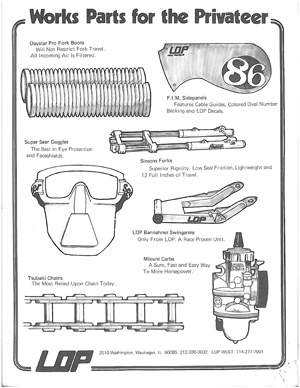 Works Parts for the Privateer