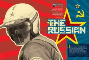 Three-time world champion Gennady Moiseev was an enigmatic superstar in the glory days of Grand Prix motocross. Eric Johnson catches up with the former Soviet hero. Page 120.